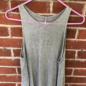 Tresics grey and white striped swing tank
